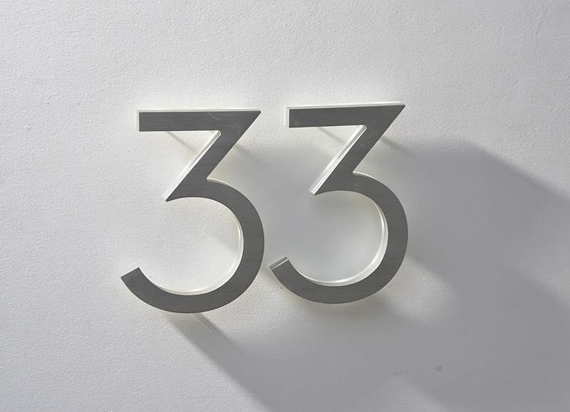 Modern Neutra House Numbers Led Backlit