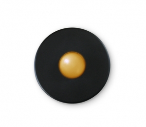 Illuminated Round Black Doorbell Button