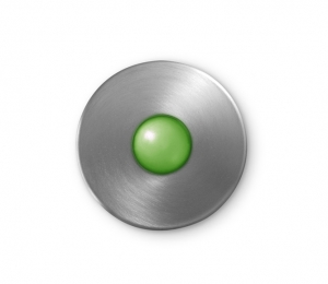 Illuminated Round Doorbell Button Brushed