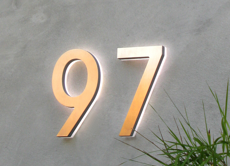 Modern Led House Number 5″ Outdoor