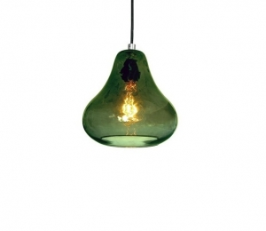 Pear Pendant Light – Olive Glass
