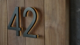 Modern 5″ Bronze House Numbers Illuminated