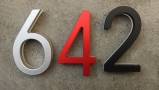 Modern Red 8″ LED House Numbers