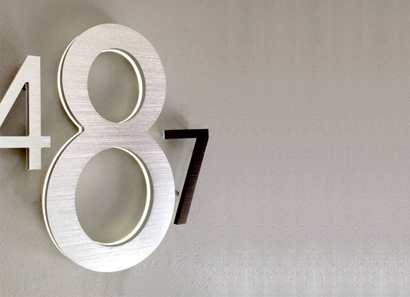 Modern 16″ Lighted LED House Numbers