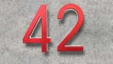 Modern Red 5″ Metal House Numbers Lighted