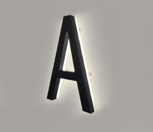 Modern Lighted Black House Letters 5″
