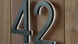 Modern 8″ Bronze Lighted Numbers & Letters