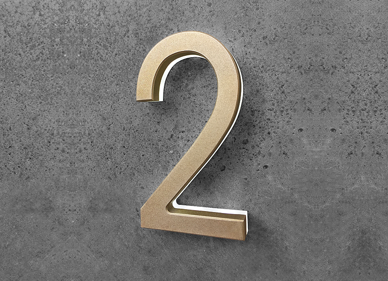 Modern Numbers 3″ Lighted