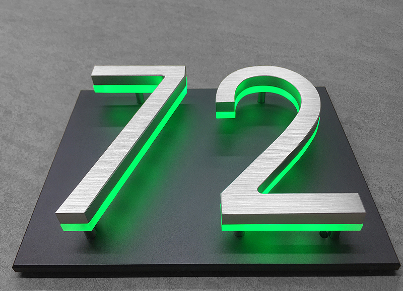 5″ Panel Backplate for Numbers