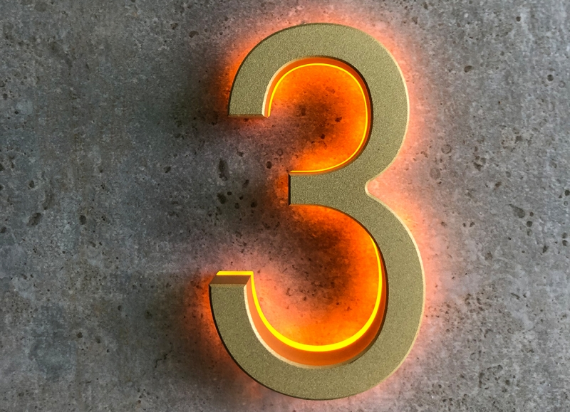3″ Backlit Outdoor LED House Numbers