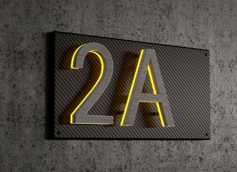Carbon Fiber Backplate for 8″ Numbers