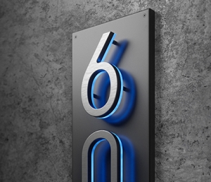 Vertical Panel Backplate for Numbers