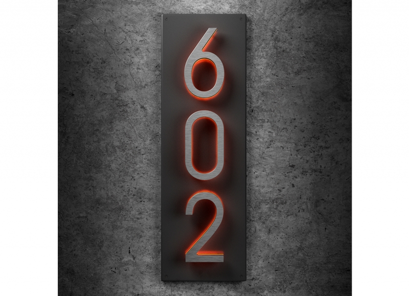 5″ Vertical Panel Backplate for Numbers