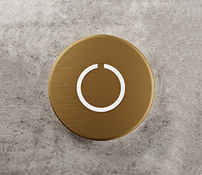 Round Touch Doorbell Brass