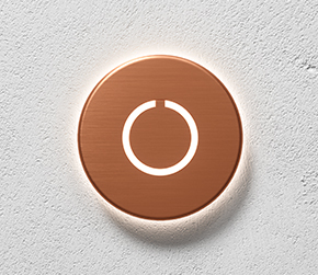 Round Touch Doorbell Copper